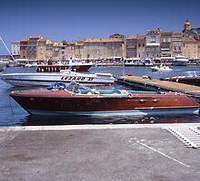 Riva Motor Launch St Tropez by Jim Hellier