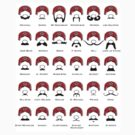 mario mustaches by cactus80