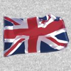 UNION JACK FLYING  TEE SHIRT/BABY GROW/STICKER by Shoshonan