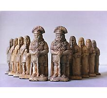 Roman Chess Set Photographic Print
