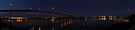 westgate bridge at night super wide panorama 001 by Karl David Hill