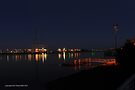 westgate bridge at night super wide panorama 001 (right panel) by Karl David Hill