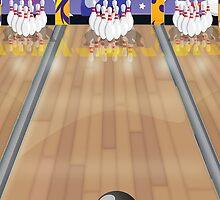 Ten-pin bowling by Nick  Greenaway