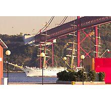 """Dar Mlodziezy"" Tall Ship, Lisbon Photographic Print"