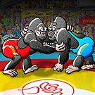 Olympic Wrestling Gorillas by Zoo-co