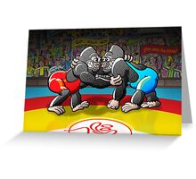 Olympic Wrestling Gorillas Greeting Card
