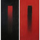 Red/Black Diptych by Thea T