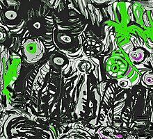 Strata in Black & Green by noriesworld