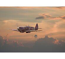 Spitfire - Evening Return Photographic Print
