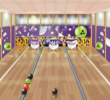 Ten-pin bowling alley by Nick  Greenaway