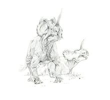 Centrosaurus apertus II by A V S TURNER