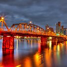 Hawthorne Bridge At Night by TRDesigns