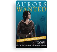 Aurors Wanted Canvas Print
