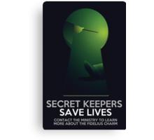 Secret Keepers Save Lives Canvas Print