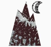 Mountain & Moon in Black by noriesworld