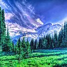 Painterly Mount Rainier by Tori Snow