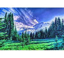 Painterly Mount Rainier Photographic Print