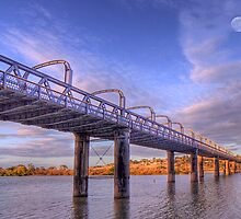 Into Infinity - Motor Bridge at Murray Bridge, South Australia by Mark Richards