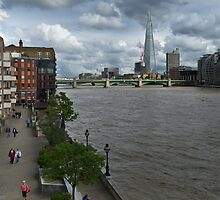 Shard and Thames waterfront by Gary Eason