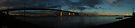 westgate bridge near sunset super wide panorama 001 by Karl David Hill