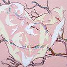 pink heart cutout by Hannah Clair Phillips
