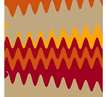 Retro Zigzag Colorful Chevron Striped Pattern 4 by Nhan Ngo