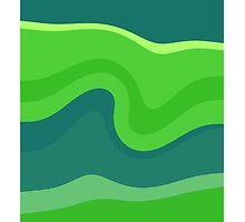Green retro waves seamless abstract by Nhan Ngo