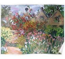 Herbaceous Border at East Riddlesden Hall Poster