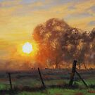 Sunrise Fence Line by Graham Gercken