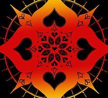 lianai hearts mandala by peter barreda