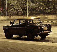 bombay taxi by night by rainbowvortex