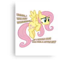 Fluttershy hug? Canvas Print
