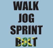 Walk, Jog, Sprint, BOLT! Kids Clothes
