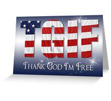 Patriotic Thanks Greeting Card