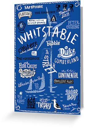 Hand-drawn Whitstable icons print by Peter Gander