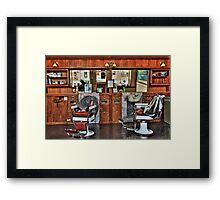 Ye Old Barber Shop Framed Print