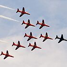 Red Arrows # 9 by Dale Rockell