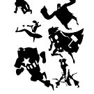 Avengers Minimalist Black and White by Fuacka