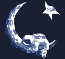 Moonstuck - Five O'Clock Shadow on Dark Blue T-Shirt