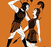 Achilles and Penthesilea Case by Philliplight