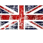 vintage flag of great britain by nadil