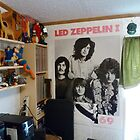 My corner with Led Zeppelin poster by Stacey Lazarus