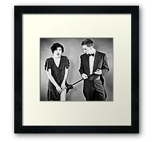 Ups! He did it again! Framed Print