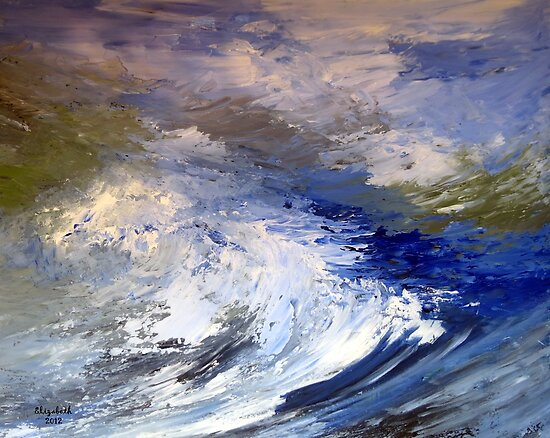 The sea...as it looks to me.  by Elizabeth Kendall