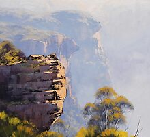 Misty Cliffs Katoomba by Graham Gercken