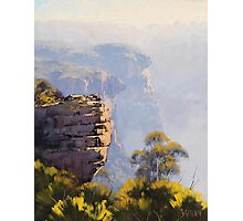Misty Cliffs Katoomba Photographic Print