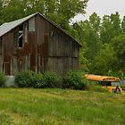 Forgotten School Bus & Barn by Elizabeth Carpenter