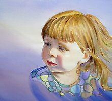 Rainbow Breeze - Girl's Portrait by Irina Sztukowski