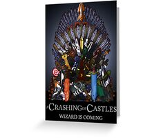 A Crashing Of Castles - Prints and Posters Greeting Card
