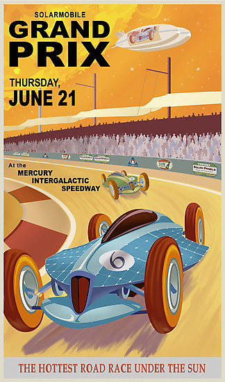 Mercury Travel Poster by stevethomasart